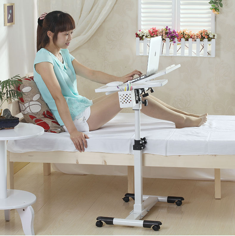 Rotary table for mobile notebook computer desk 360 degrees The lazy bedside table lift computer desk multifunctional moving laptop desk sofa bedside ps stand lazy lift full motion mobile computer table