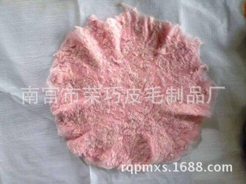 Circular Diameter Of 60 Cm  Fluffy Wool Felt Fleece Real Pure Wool Basket Filler Stuffer Newborn Photography Props
