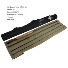 IM10 4wt 8ft 6in 4sec Fast Action Freshwater Fly Rod NEW aventik japn carbon 6ft 6in 2wt 4sec with extra tip fast action freshwater small trout fly fishing rod cork handle fly rods
