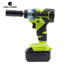Crazy Power 18V Brushless Electric Impact Wrench Cordless Rechargeable Lithium Battery Car Socket Impact Digital Electric Wrench