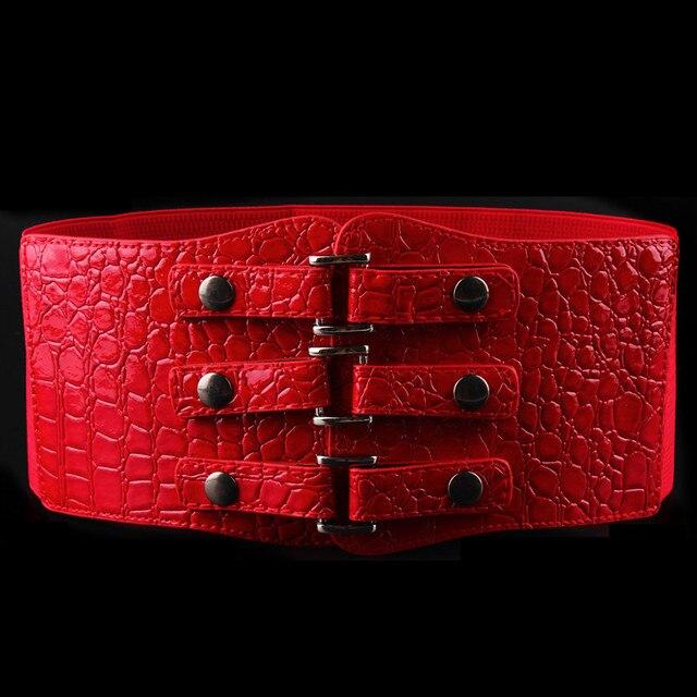 waist elastic sealing wide belt female han edition decoration fashion joker black belt tension women belt  Waist sealing