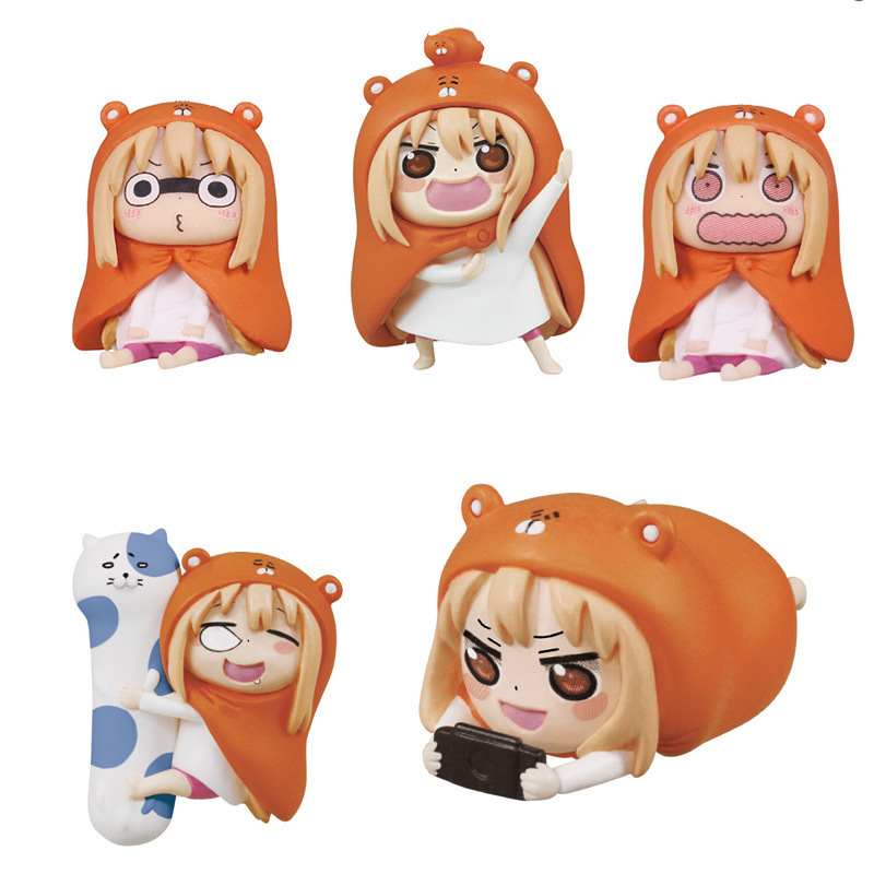 5pieces Q Version Himouto Umaru-chan Doll Anime Figure PVC Collection Model Toy Action Figure For Friends Gift