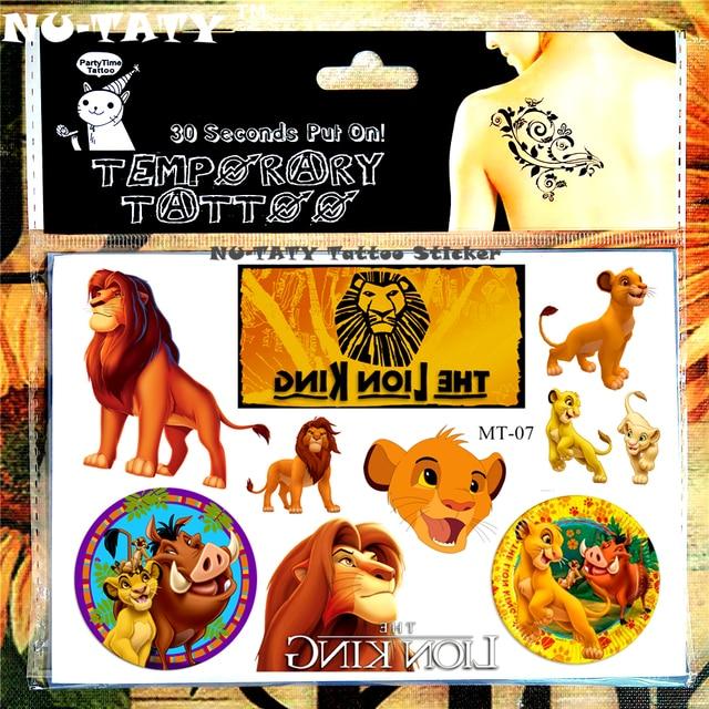Nu Taty Roi Lion Simba Enfant Temporaire Corps Art Flash Tatouage
