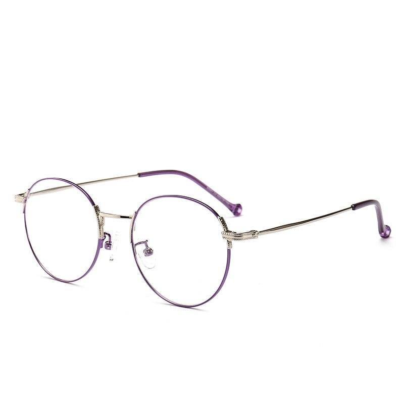 Zwei-farbe retro literarischen volle metall dünne-umrandeten runde brille frische gläser XGB1-XGB13