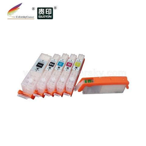 rcc450 5 recarregaveis de recarga de cartuchos de tinta para canon pixma ip7240 mg5440