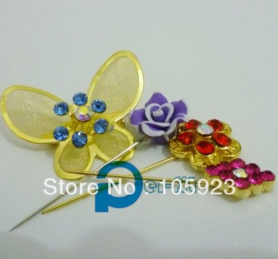 hijab pins shawl pin pins muslim jewelry khaleeji safety pins 60pcs/lot mix colors free ship