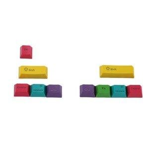Image 2 - OEM Profil PBT RGBY CMYK Schlagzähmodifikatoren 10 Tasten Laser Gravierte Tastenkappen Mac Tastenkappen Für Cherry MX Mechanische Tastatur