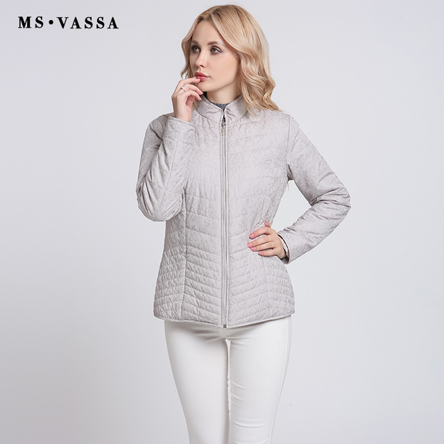 Ms Vassa Ladies Coats 2017 New Women Quilted Jacket With All Over