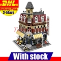 DHL Lepin 15002 LELE 30012 2133Pcs Clone City Street Make Create Cafe Corner Model Building Kits Set Blocks Clone 10182