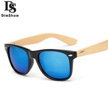 Dimshow 2017 Retro De Madeira De Bambu Óculos De Sol Dos Homens Das Mulheres Designer De Marca Óculos Óculos de Sol Espelho de Ouro Tons luneta óculo