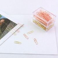 Пачка розовое золото Мода Бумага металлический зажим Бумага клипы фото клип Бумага клипы декоративные подарок стационарный Канцтовары H0089