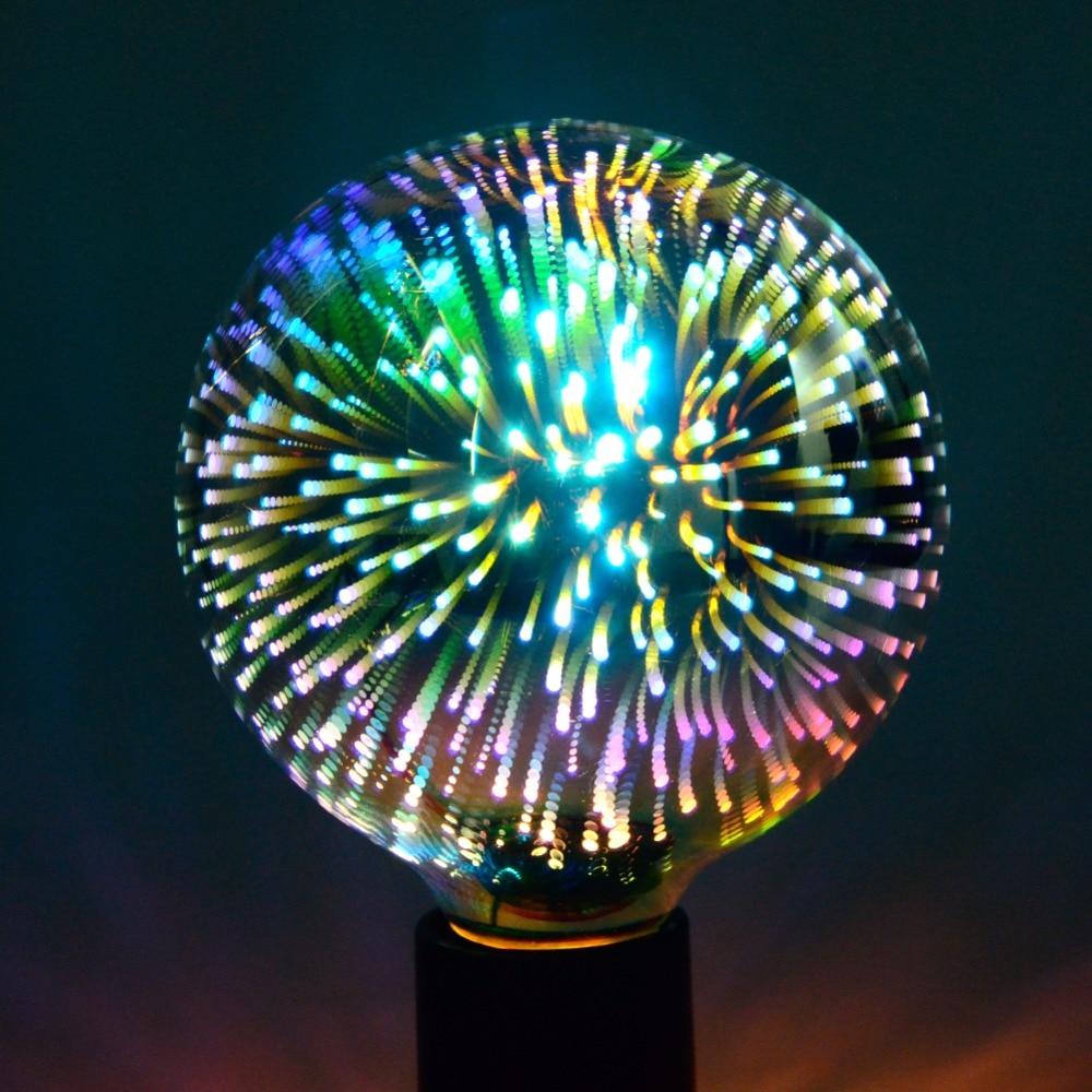 3d fireworks e27 led ampoule retro edison lampada st64 g95. Black Bedroom Furniture Sets. Home Design Ideas
