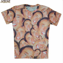 Hot-sale Funny Nicolas Cage 3D Full Print Short Sleeve T Shirts for Women Unisex Casual Top Tee O Neck Plus Size M-2XL