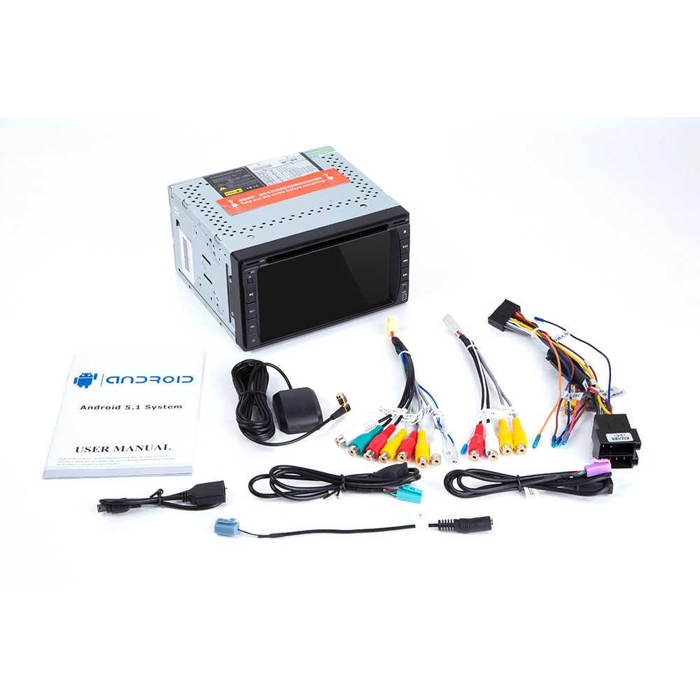 Josmile Universal 2 Din Android 9,0 coche Radio reproductor Multimedia DVD GPS navegación Wifi estéreo Audio cabeza unidad 173mm * 98mm
