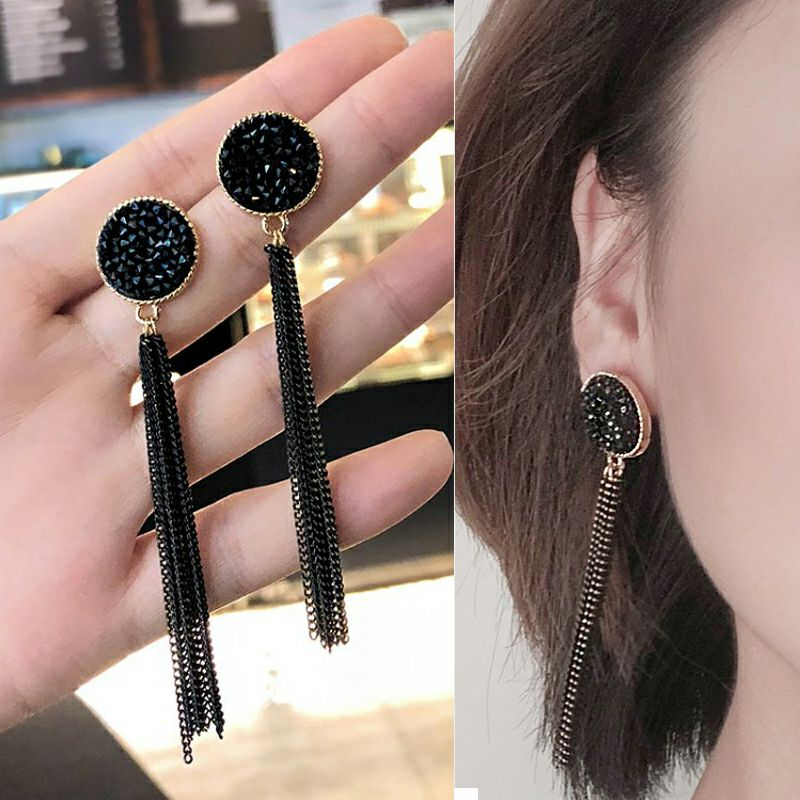 Fashion Long Tassel Hangs Earrings For Women Drop Earrings Female Bijoux Dangle Jewelry Earring For Girl Party Wedding Gift