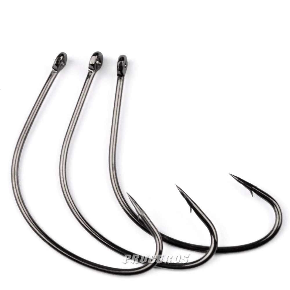 10 pcs ตะขอ barbed Crankhook Barbed fishhook ตะขอตกปลา Crank High - Carbon Steel Jig Barbed jigging