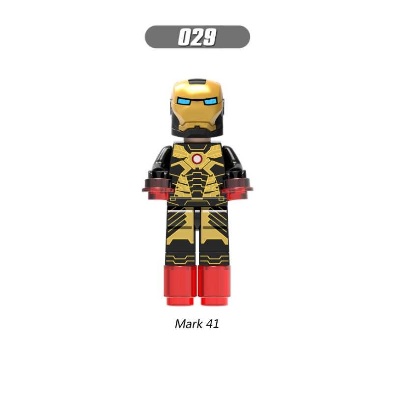 Homem de ferro Marca Única Venda Avengers Super Hero Compatível Legoingly Figuras Modelo Conjunto de Blocos de Construção Tijolos Brinquedos Para Crianças