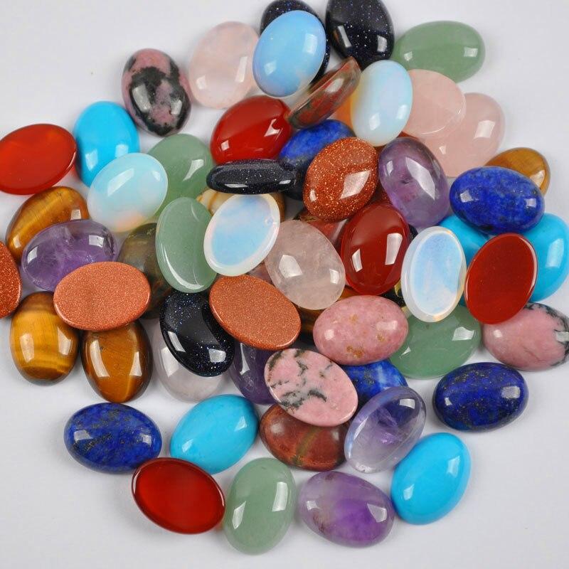 5 cabuchons 25 x 18 mm cristal