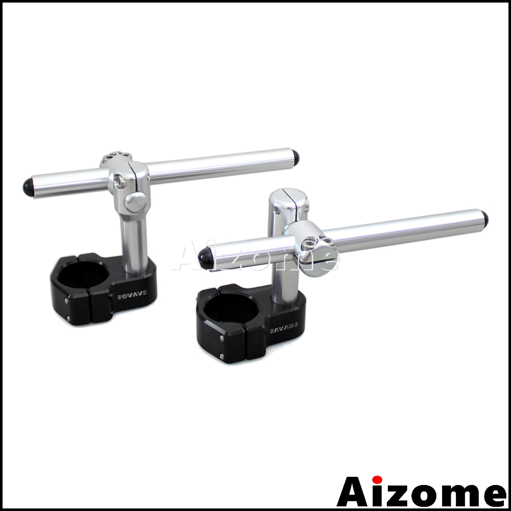 "Universal Motorcycle Adjustable Billet CNC Aluminum Clip Ons Handlebar For 50mm Fork 7/8"" Handle Bar"