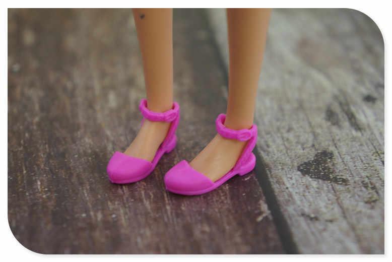 2019 nuevo colorido accesorios Original zapatos para muñeca barbie 1/6 de moda Zapatillas de deporte sandalias auténticas zapatos planos para muñeca barbie