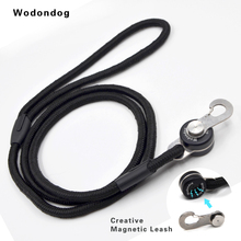 ФОТО wodondog magnetic dog leash quick link collar harness with nylon leash for dogs large dog puppy breakaway accessorie pet product