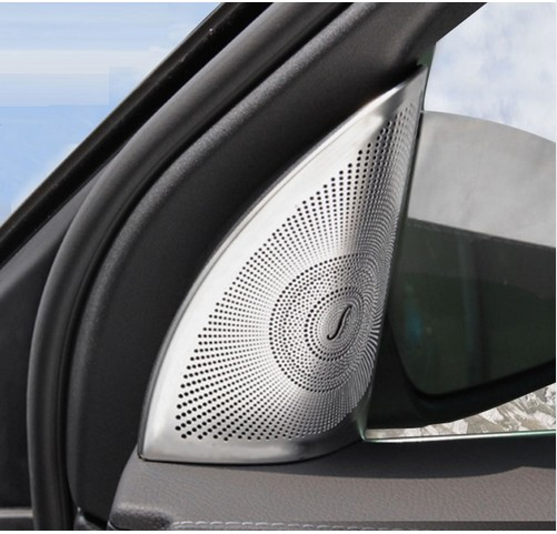 Aluminum alloy Chrome Door Speaker Cover Trim For Mercedes Benz GL Class ML W164 350 2013 2014 2015 2016 Accessories Car Styling for mercedes benz ml gl class w164 05 11 front air suspension air spring bag 1643204513 for ml320 ml350 gl450 gl500 front 06 08