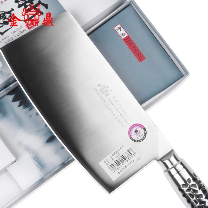 Jinding cutting edge cutter 4cr13 stainless steel kitchen font b knives b font chop bone font