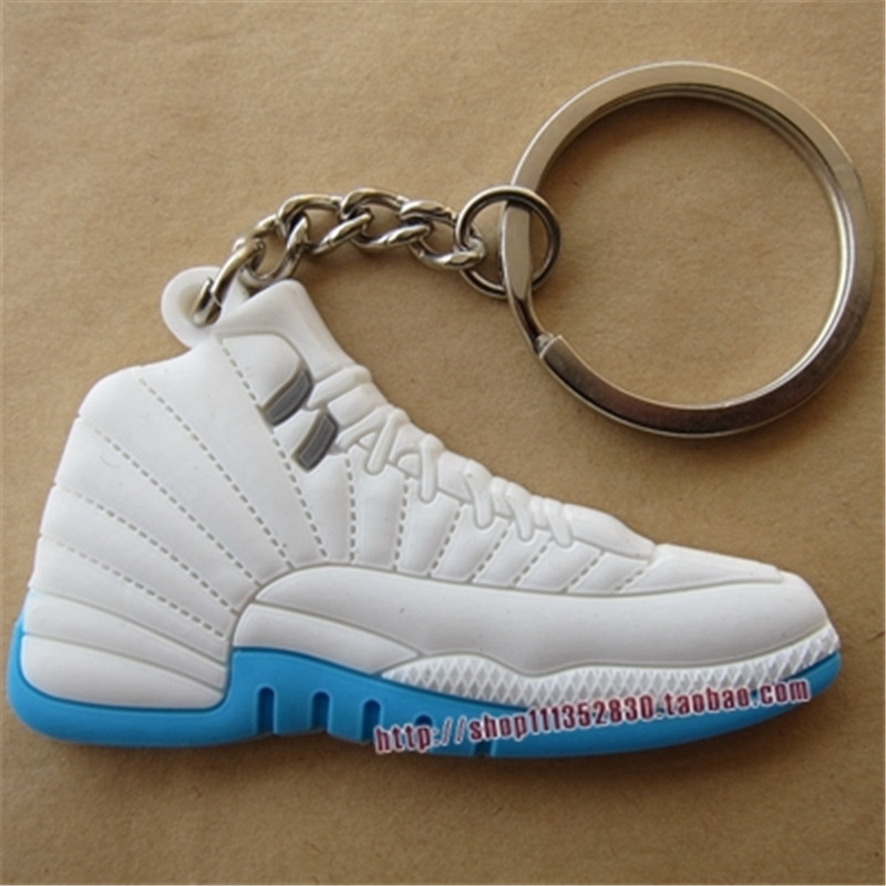 100pcs lot HOT Air Jordan Keychain 3D Jordan keychain Jordan pvc shoes  keychain Sneaker Keychain AJ12-in Key Chains from Jewelry   Accessories on  ... fea650861