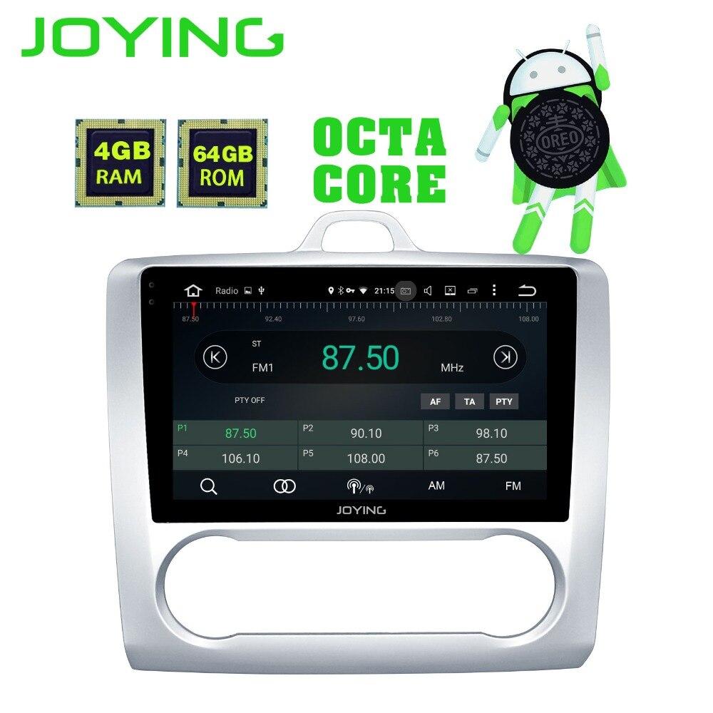 JOYING 2 din 9 pouce Android 8.0 4g + 64g Octa Core Voiture Dvd GPS Stéréo Unité Lecteur pour Ford Focus avec WiFi/Radio/Bluetooth/Carplay
