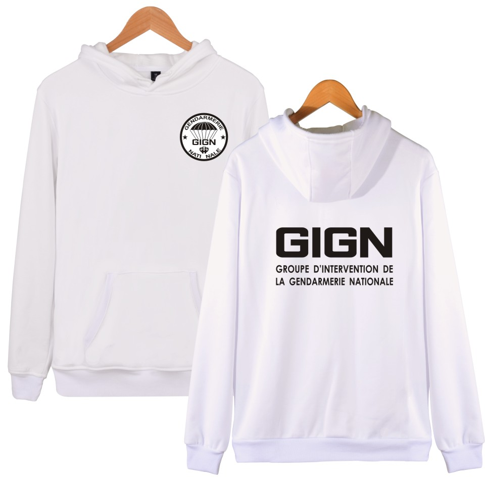 GIGN The New Gendarmerie 2018 Men Women Hoodies Fashion Hip hop BRI POLICE Men Hooded Sweatshit Leisure Clothes Plus Size XXXXL