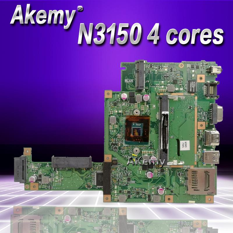Akemy X453SA Laptop Motherboard For ASUS X453SA F453S X453S Mainboard  Test 100% OK N3150 4 Cores