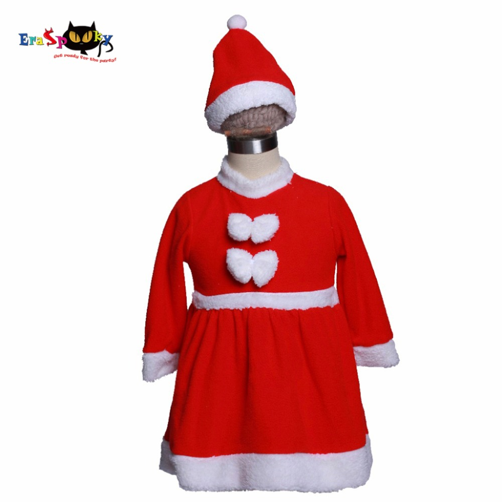 Eraspooky Christmas Costume For Kids Christmas Dress For Girls 2017 Velvet  Santa Claus Dress And Hat Set Child Christmas Cloths