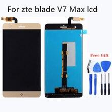 100% جيدة اختبار جودة LCD ل شاشة zte blade v7 ماكس تجميعها الهاتف المحمول شاشات كريستال بلورية عرض الهاتف المحمول اكسسوارات