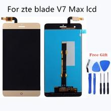 100% 良いテスト品質の液晶 zte ブレード V7 最大組み立て携帯電話液晶モニターの表示携帯電話アクセサリー