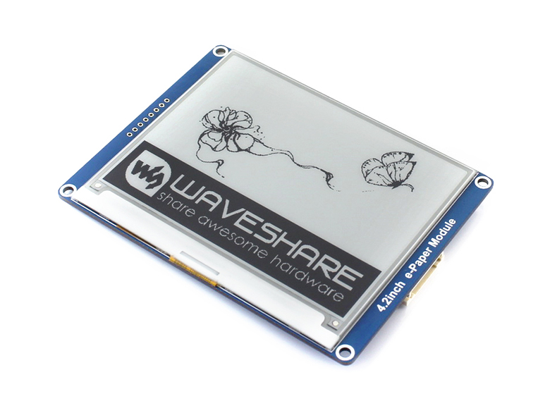 4.2 polegadas E-Ink Display Module 400x300 E-Módulo de papel Preto Branco Dois-cor SPI interface Sem Backlight Ultra baixo consumo de energia