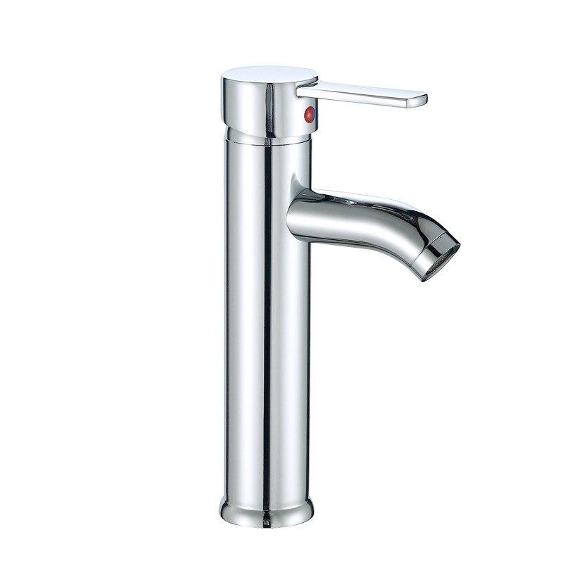 Vessel Waterfall Brushed Nickel Bathroom Sink Faucet One Hole Handle ...