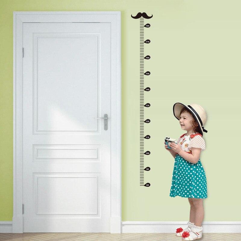 Мультфильм Усы диаграмма роста Наклейки на стены для детей номеров Home Decor Diy высота мера наклейки на стены ПВХ Плакаты подарок