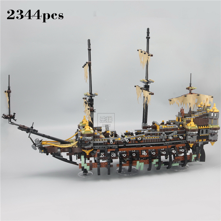 compatible legoing Pirates Ship The Slient Mary Set Pirates of the Caribbean 2344pcs Building Blocks Brick Toys For Kids Gift qiaoletong city pirates series pirates of the caribbean building blocks sets bricks model kids toys compatible legoing