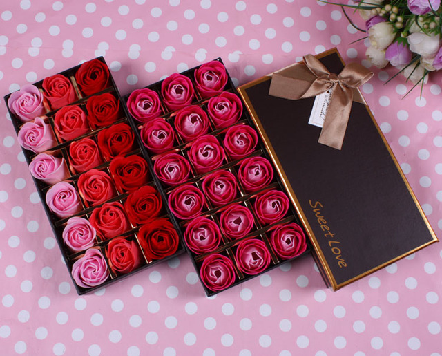 Gift 18 Soap Flower Box Rose Birthday Present Girlfriend Gifts