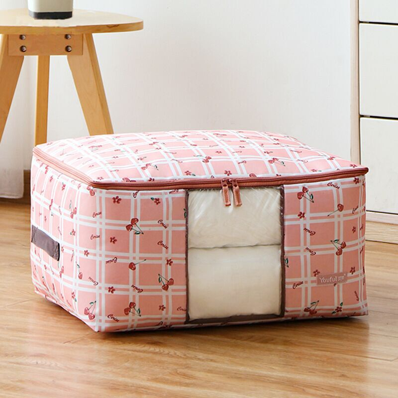 SAFEBET Foldable Storage Bags Organizer Clothes Blanket Quilt Closet Clothing Cabinet Wardrobe Cover Underbed Organizers Oxford