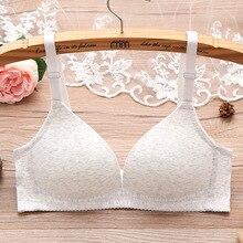 Baumwolle glatte dünne stahl freies unterwäsche bh sexy sammeln kleine bh brasiers für damen