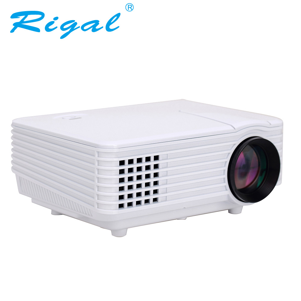Rigal Projecteur RD805 RD805AW 800 Lumens Android 4.4 WIFI LED MINI Projecteur 3D Beamer Vidéo Home Cinéma Théâtre 3.0 USB HDMI