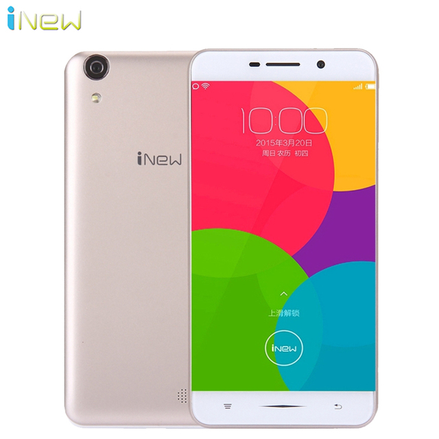 Original Inew U5W 5.0 inch 3G Smartphone Android 5.1 MTK6580 Quad Core 1.3Ghz 1G RAM 8G ROM 5.0MP 3000mAh Battery Mobile Phone
