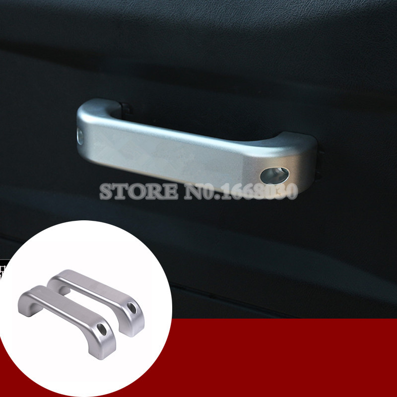 Нутряная алюминиевая дверь ручки отделка 2шт для ленд ровера дефендера 90 2-дверный 2009-2015