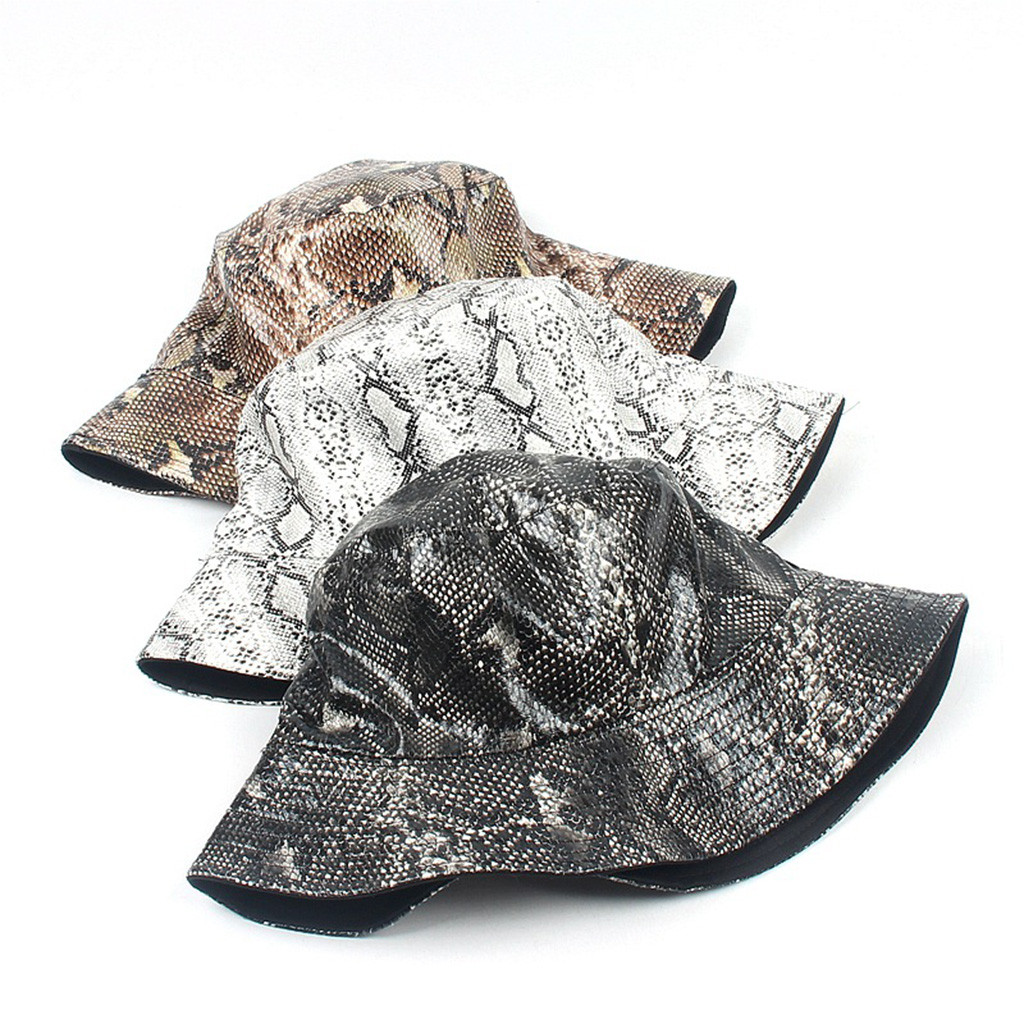 Casual hat unisex snake fisherman hat street trend double-sided wearing hip hop hat travel visor cap Z118