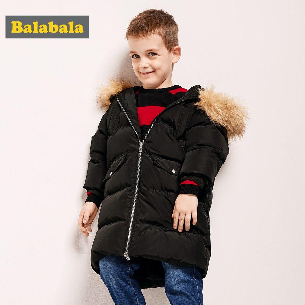 Balabala 20 degree Baby Boy Jacket Winter wool Thicken Kids Girls Autumn Outerwear Hooded Warm Children