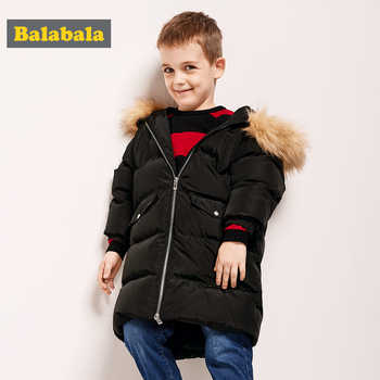 Balabala -20 degree Baby Boy Jacket Winter wool Thicken Kids Girls Autumn Outerwear Hooded Warm Children Coats Clothes For 2-6Y - DISCOUNT ITEM  68% OFF All Category