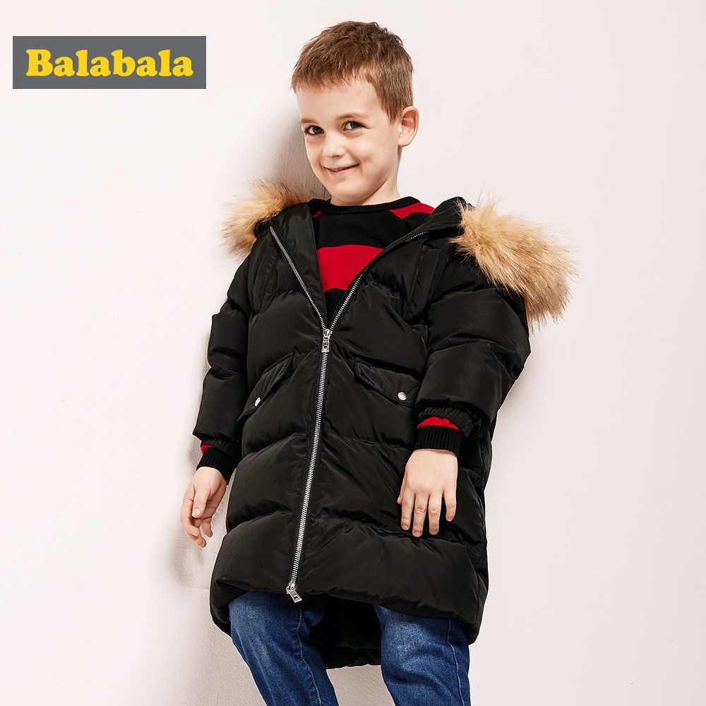 Balabala-20 תואר תינוק ילד מעיל חורף צמר לעבות ילדים בנות סתיו הלבשה עליונה ברדס חם ילדי מעילי בגדי עבור 2-6Y