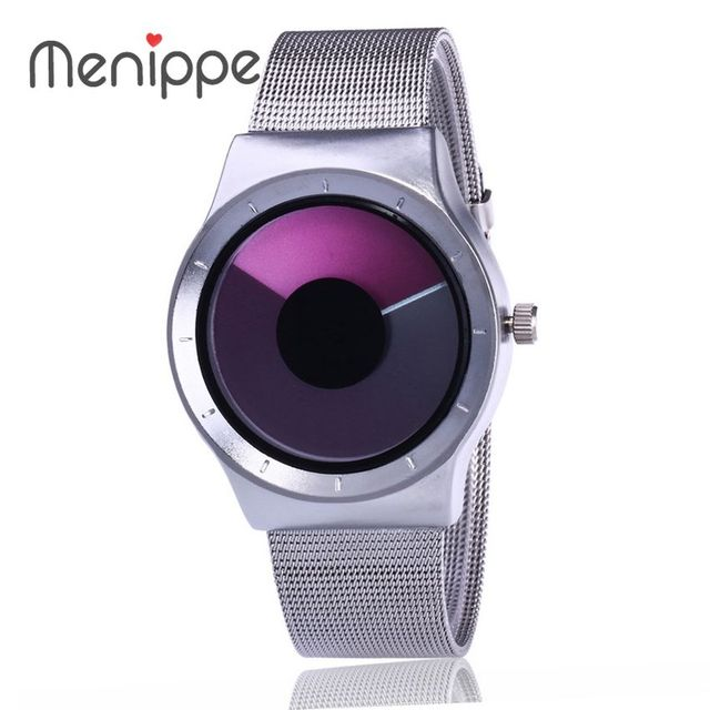 2017 Luxury Brand Dress Watches For Men And Women Stainless Steel Mesh Strap Spo