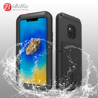 For Huawei Mate 20 Pro Case Metal Aluminum + Hybrid Silicon Shockproof Dirtproof Armor Case for Huawei Mate20 Pro Case
